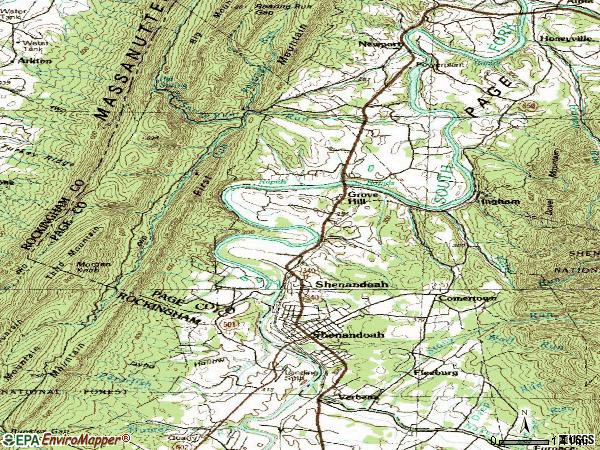 Zip code 22849 topographic map