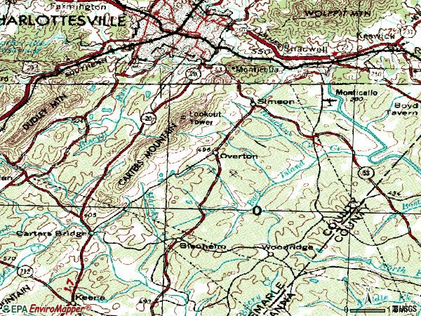 Zip code 22902 topographic map