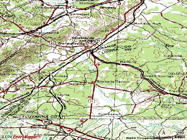 Zip code 22942 topographic map