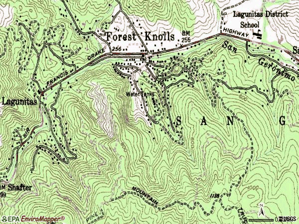 Zip code 94933 topographic map