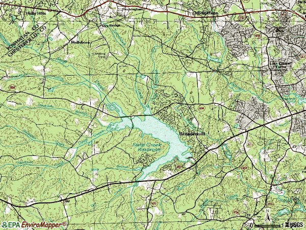 Zip code 23112 topographic map