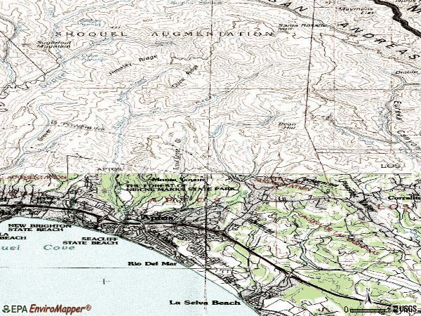 Zip code 95003 topographic map