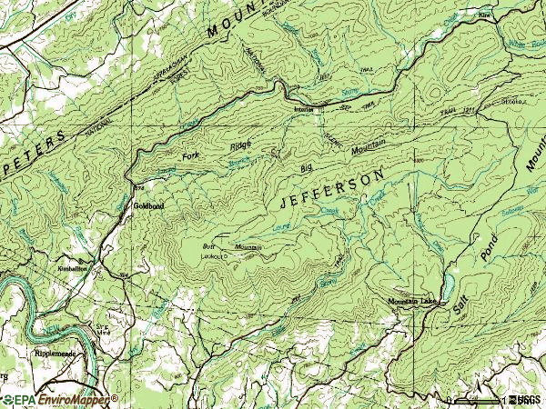 Zip code 24150 topographic map