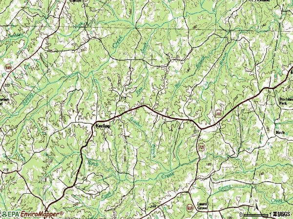 Zip code 24566 topographic map