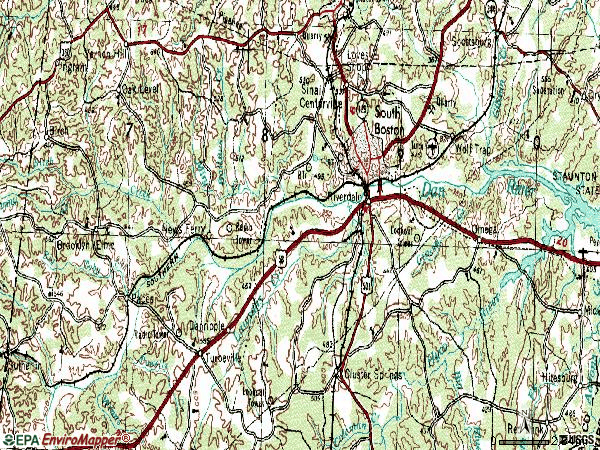 Zip code 24592 topographic map