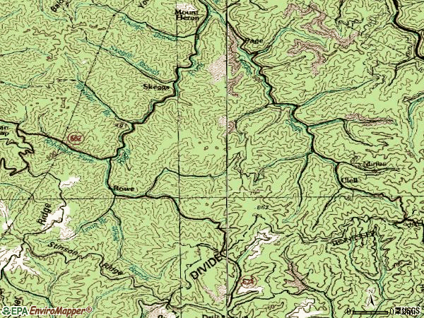 Zip code 24646 topographic map