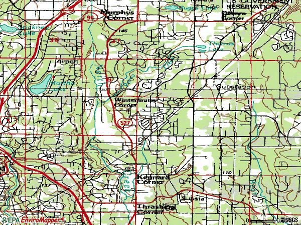 Zip code 98012 topographic map