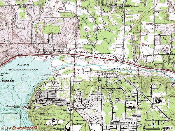 Zip code 98028 topographic map