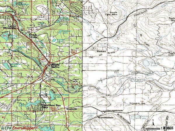 Zip code 98038 topographic map