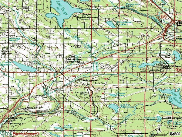 Zip code 98042 topographic map