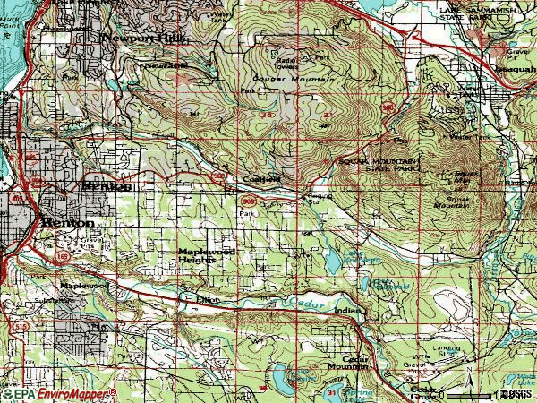 Zip code 98059 topographic map