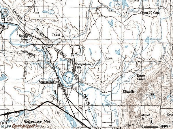 Zip code 98065 topographic map