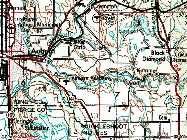 Zip code 98092 topographic map