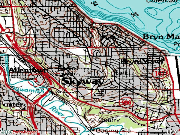 Zip code 98178 topographic map