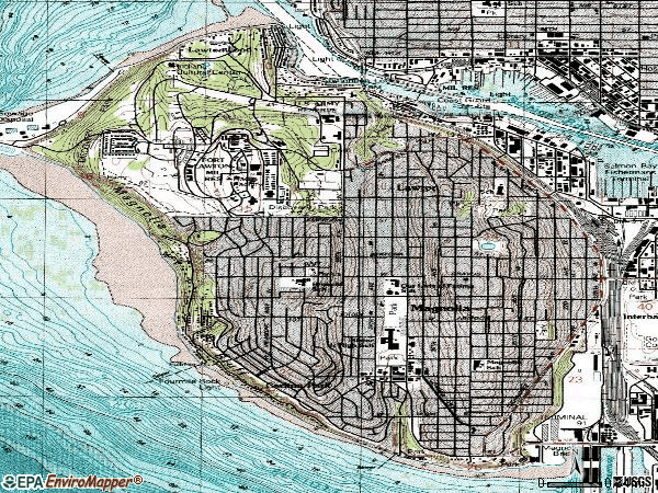 Zip code 98199 topographic map