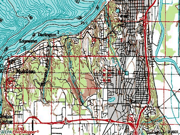 Zip code 98203 topographic map