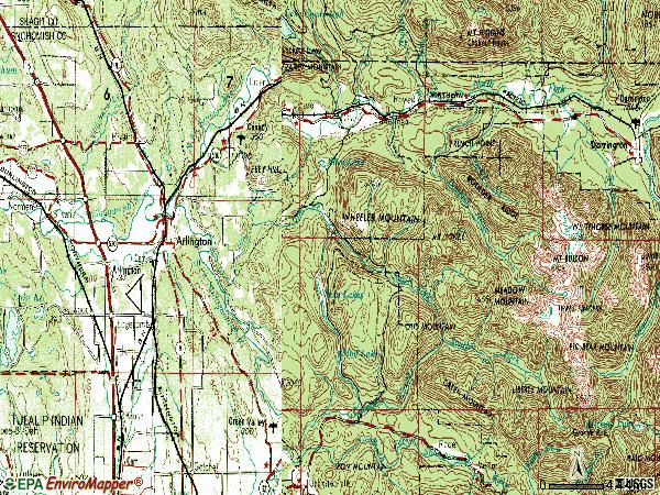 Zip code 98223 topographic map