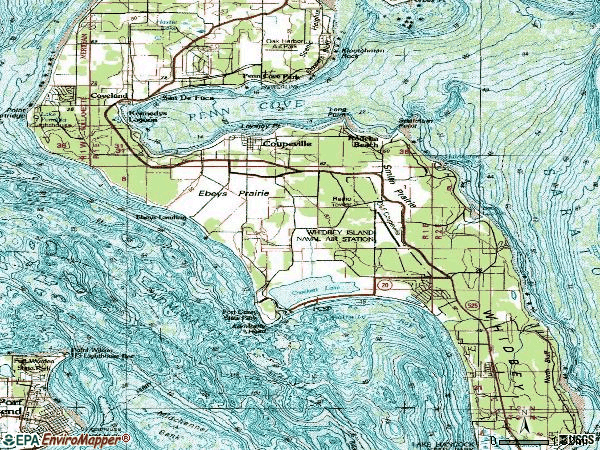 Zip code 98239 topographic map