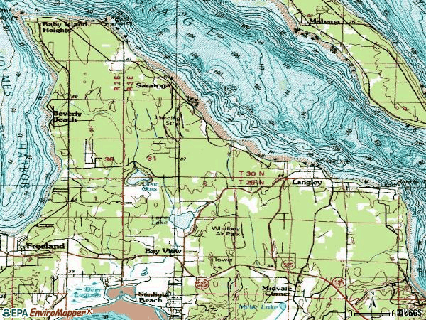 Zip code 98260 topographic map