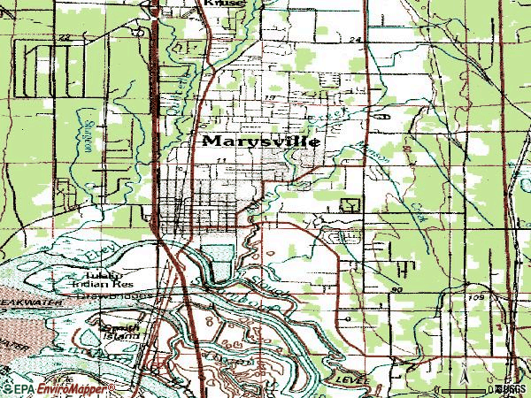 Zip code 98270 topographic map