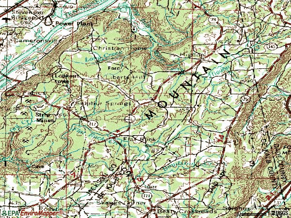 Zip code 35966 topographic map