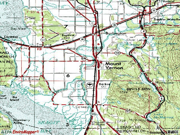 Zip code 98273 topographic map