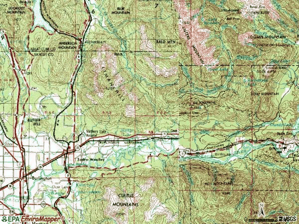 Zip code 98284 topographic map