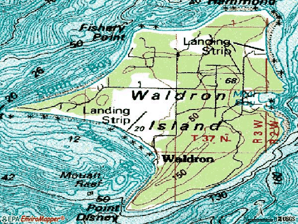 Zip code 98297 topographic map