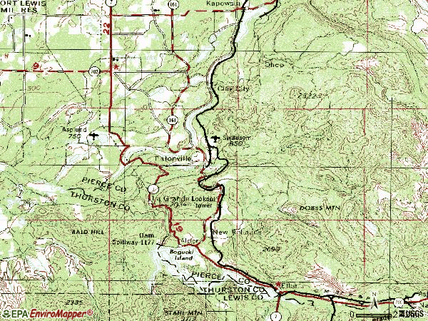 Zip code 98328 topographic map