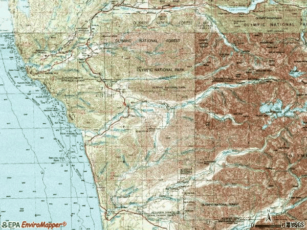 Zip code 98331 topographic map