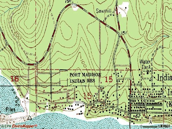 Zip code 98342 topographic map