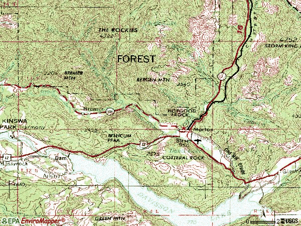 Zip code 98356 topographic map