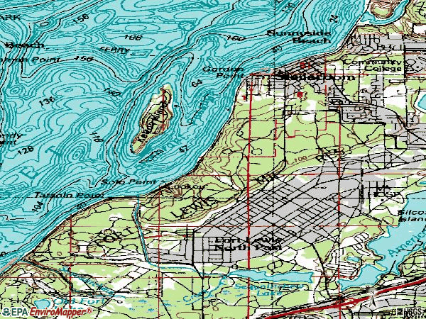 Zip code 98388 topographic map