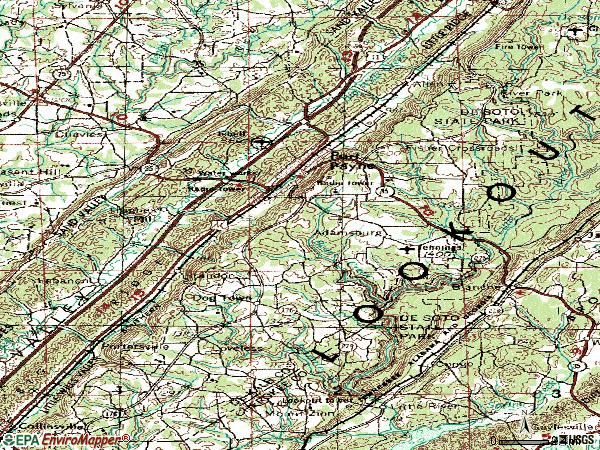 Zip code 35967 topographic map