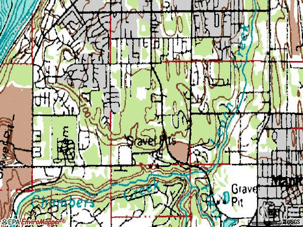 Zip code 98467 topographic map