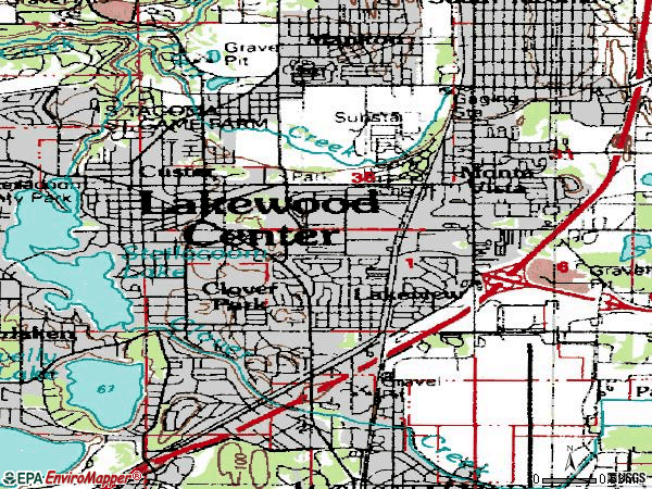 Zip code 98499 topographic map