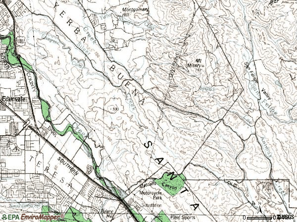 Zip code 95138 topographic map