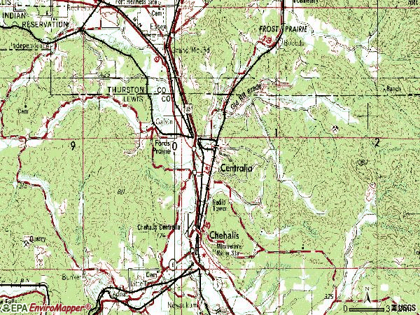 Zip code 98531 topographic map
