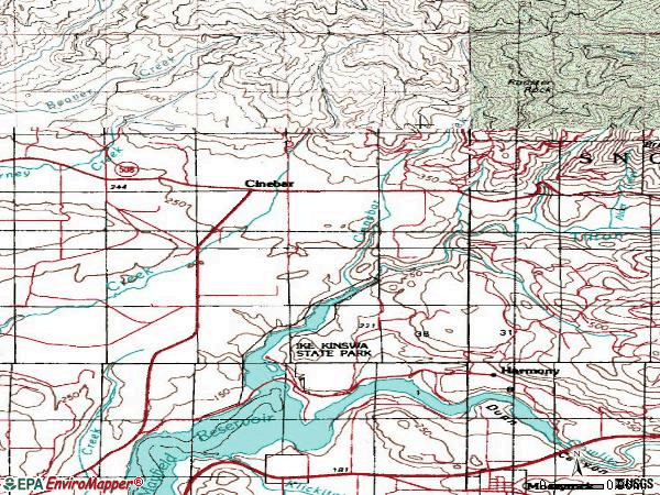 Zip code 98533 topographic map