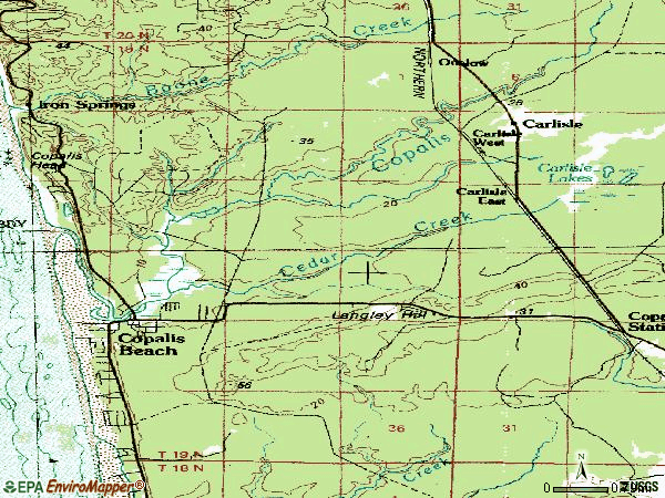 Zip code 98535 topographic map