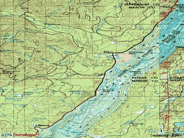 Zip code 98555 topographic map