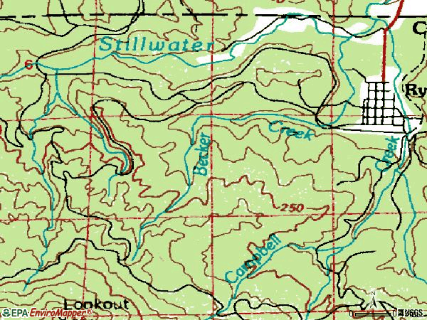 Zip code 98581 topographic map