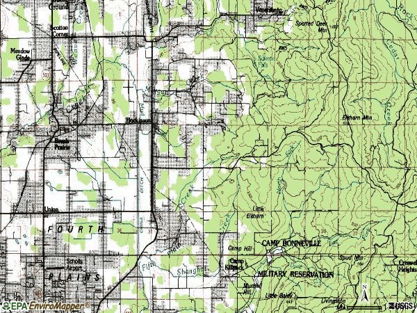 Zip code 98606 topographic map