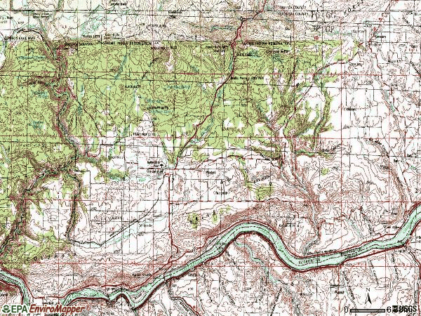 Zip code 98620 topographic map