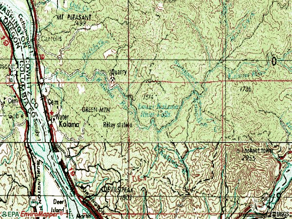 Zip code 98625 topographic map