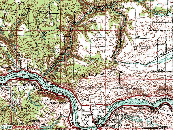 Zip code 98635 topographic map