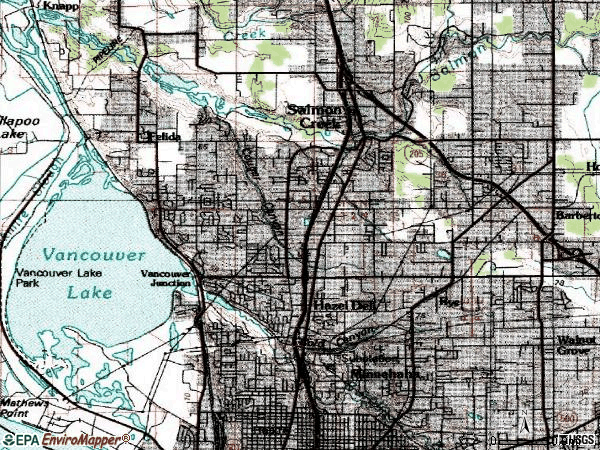 Zip code 98665 topographic map