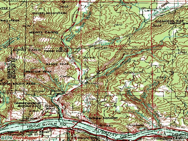 Zip code 98672 topographic map