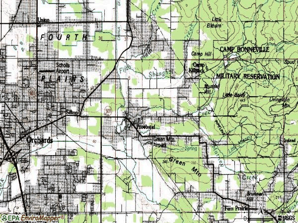 Zip code 98682 topographic map