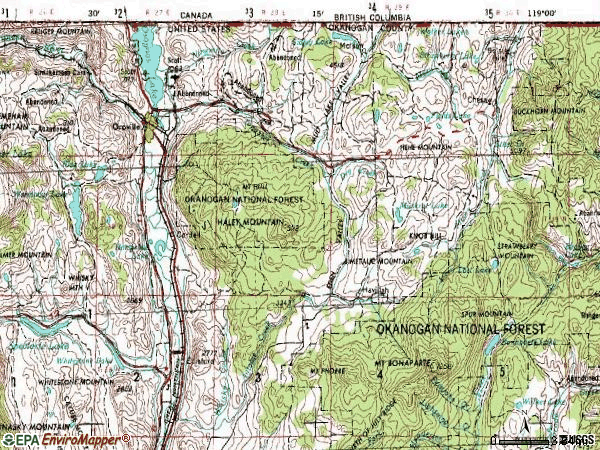 Zip code 98844 topographic map
